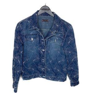 Byblos Blu Vintage embroidered denim jacket